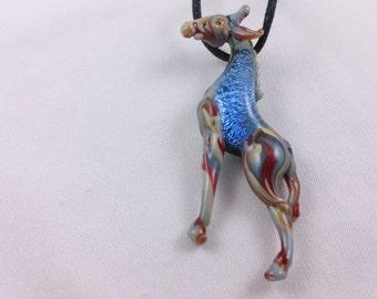Giraffe - Glass Pendant Necklace lampwork