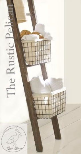 rustic bathroom ladder farmhouse ladder rustic 6ft 4ft