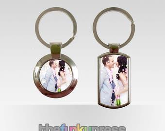 Personalised Photo Metal Keyring Gift