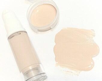 ALABASTER Liquid ORGANIC Foundation - Natural Makeup Vegan Gluten Free - Serum Liquid Minerals Fair Light Skin