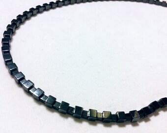 Hemitite Cube Necklace