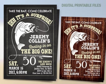 Fishing Birthday Invitation, Fishing Birthday Weekend Party, Fishing Birthday Announcement, Printable