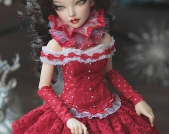 msd minifee full brest - red Christmas set