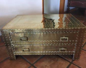 Sarreid Ltd Brass Chest