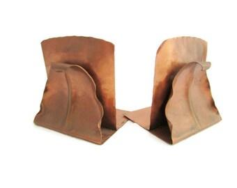 Pair of Gregorian Copper Bookends