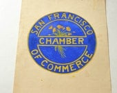 Original Art, Vintage San Francisco Chamber of Commerce Logo Prototype