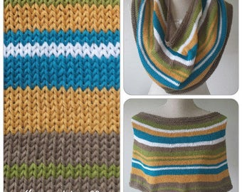 Funky retrostyle striped Summer/Fall poncho,col,shoulderwarmer,wrap size M/L, colourfull handmade one of a kind item.