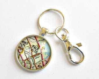 Personalized Map Keychain, College Graduation Gifts for Friends, Personalized Graduation Gifts for Men, Graduation Gift for Best Friend
