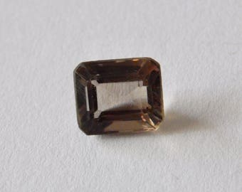 Smokey Quartz Emerald Cut Gemstone for Setting