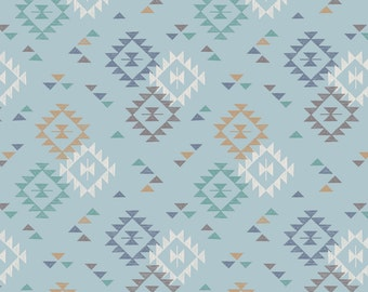 Lewis & Irene To Catch a Dream Patchwork Quilting Fabric A173.2 Triangle Print on Light Blue