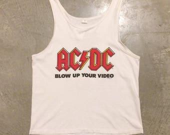 Vintage AC/DC 1988 Blow Up Your Video World Tour Tank Top