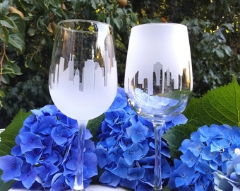 Chicago Skyline Wine Glass Pair (Set of 2)