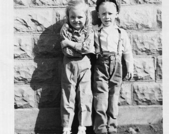 Vintage Photo..Best of Friends, 1950's Original Found Photo, Vernacular Photography