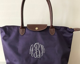 Personalized Tote Bags - Monogram - Tote Bags - Black