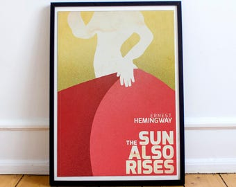 The Sun Also Rises, Fiesta, fine art print for classic book cover, Ernest Hemingway, vintage, giclée