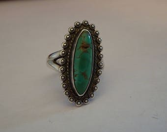 Sterling SIlver and Turquoise Ring - size 5