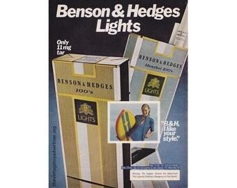 Vintage 1980 magazine ad for Benson & Hedges - 120