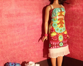 HautePoppet #romanticruffles two piece outfit for curvy/lammily size fashion dolls.