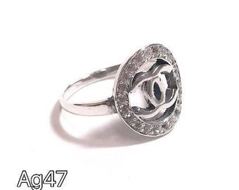 Chanel - silver 925 ring-size 7.5
