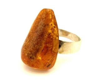 Amber Baltic Ring 4.54 Gr 7.5 Size Excellent Genuine Natural Color