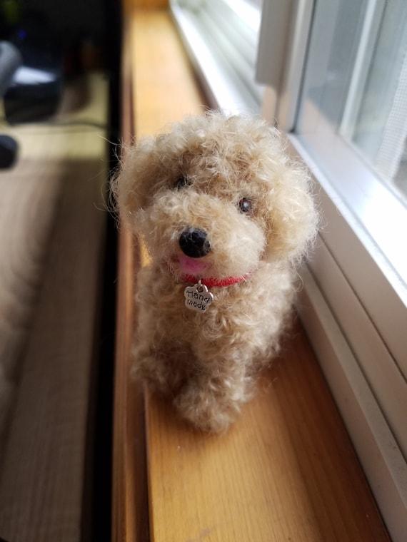 Needle Felted Poodle Dog Toy Poodle Custom Dog Portrait