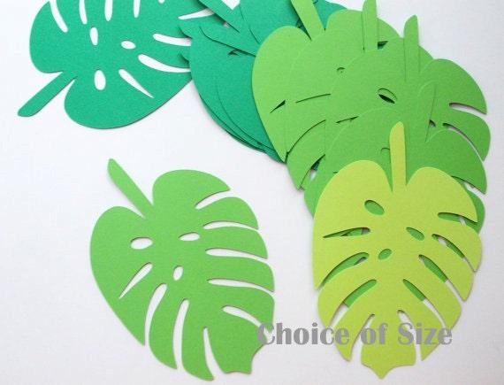 Tropical jungle leaf cutouts palm leaf luau party decoration for Jungle leaf templates to cut out