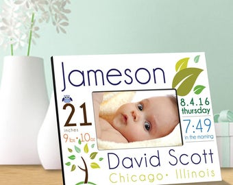 Personalized Baby Announcement Picture Frames - Personalized Baby Picture Frames - Baby Gifts - Birth Announcement - GC1552