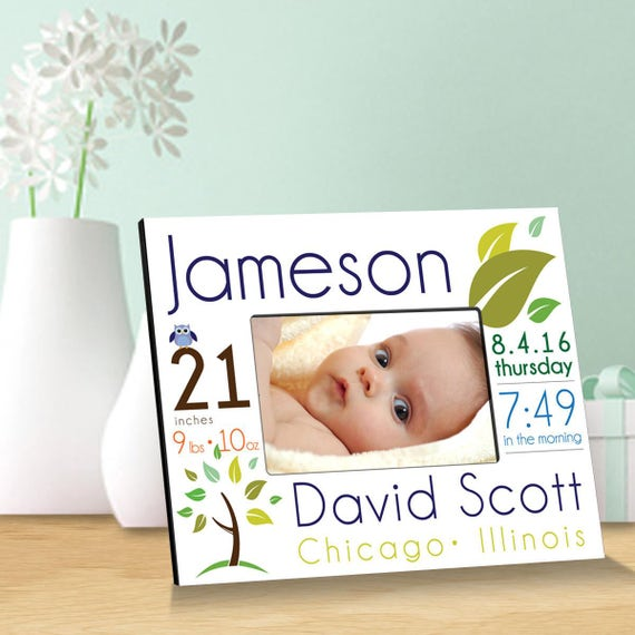 Personalized baby announcement picture frames personalized baby personalized baby announcement picture frames personalized baby picture frames baby gifts birth announcement gc1552 from creativebyclair on etsy negle Choice Image