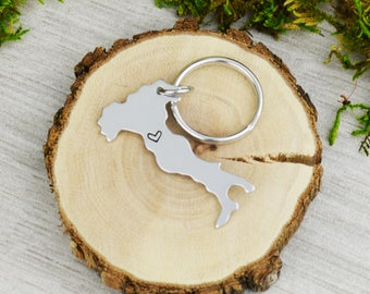 Italy Keychain or Necklace - Best Friend Gift - Couples Gift - Long Distance Love