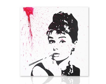 Modern Painting Audrey Hepburn - ready to hang - picture for modern furnishings - wall art - wall pictures - home decor - wall decor - art