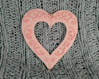 Hanging Open Heart Plaque