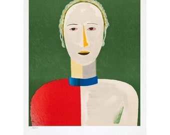 KAZIMIR MALEVICH - 'Portrait of a woman' - stunning hand numbered original lithograph - c1973 - large (Mourlot, Paris. Kandinsky interest)