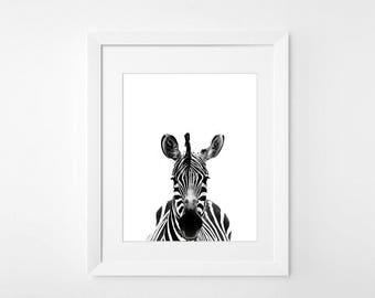 Items Similar To Mirror Funky Wall Decor Zebra Print On Etsy