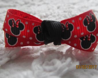 RED double Minnie head Dog Hair Bows Can Mix and match with any of my bows, Minnie Head  dog bows, bows
