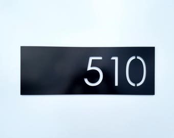 House Numbers Modern Black Address Plaque Street Address Sign Home Improvement Minimalist Design