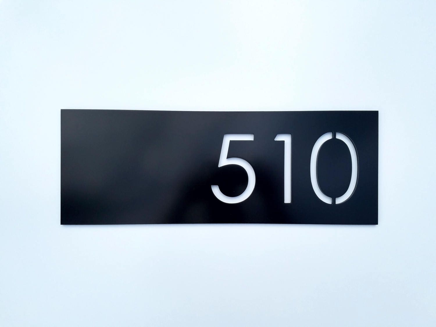 House numbers modern black address plaque street address sign for Modern house number plaques