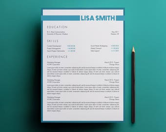 Resume Template & Cover Letter Template - Modern Resume and Creative Resume Design - Microsoft Word Document - CV Template A4 and US Letter
