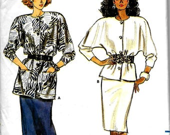 Butterick 5767       Misses Top and Skirt        Size 14,16,18     Uncut