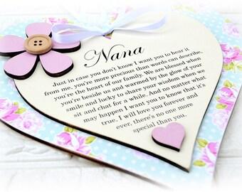 Grandma / Nana / Grandmother / Nanny Personalised Sentimental Poem Plaque