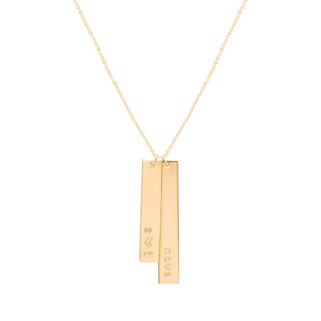 Gold Double Vertical Bar Necklace  Vertical Nameplate. Kundalini Spirit Bracelet. Citrine Bracelet. Medicinal Bracelet. Sunstone Necklace. Crocodile Watches. Pandora Anklet. Myasthenia Gravis Bracelet. Set Wedding Rings