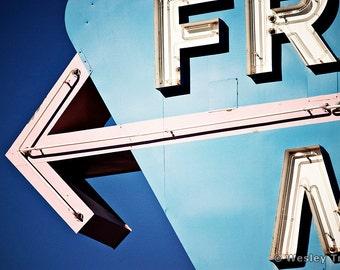 Frontier Motel - Neon Midcentury Motel Sign  Photograph