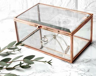 glass storage box etsy. Black Bedroom Furniture Sets. Home Design Ideas
