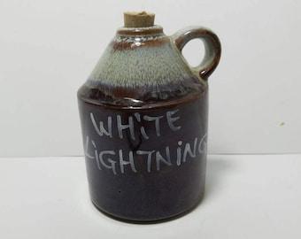 Free Shipping!! White Lightning Moonshine Jug