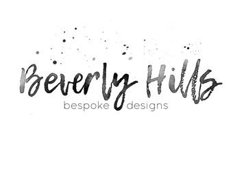 Custom watercolor brush lettering logo business logo design blog logo photography logo text logo font logo calligraphy logo signature logo