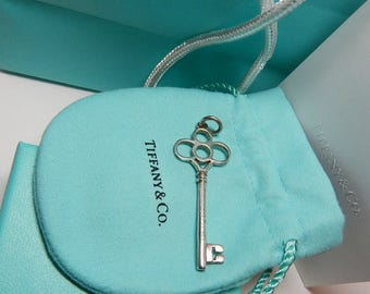 Key pendant etsy tiffany co 925 sterling large key pendant tiffany keys crown key pendant tiffany aloadofball Image collections
