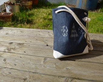 Shoulder bag organic denim shopper