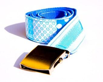 Patchwork - belt pattern blue ribbons