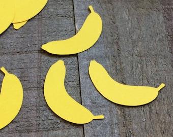 Yellow Banana Table Confetti / Fruit Theme Party Decor Decoration Table Scatter Scrapbook Embellishments Die Cut Centerpiece C049
