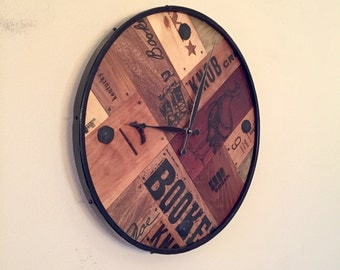 Whiskey Barrel Clock Etsy