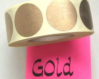 "Gold sticker dots, 3 cm/1.18"" (M), set of 25, envelope sticker, gold sticker, envelope seal, gold seal, snail mail, junk journal, scrapbook"